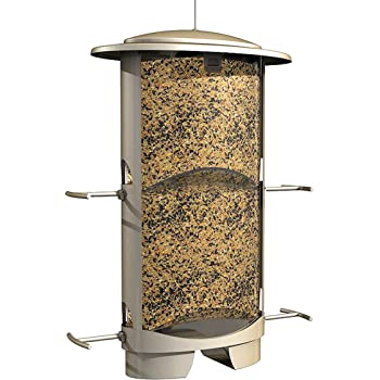 More Birds X-1 Squirrel-Proof Bird Feeder with 4.2-Pound Bird Seed Capacity and Four Feeding Ports