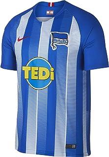 NIKE 2018-2019 Hertha Berlin Home Football Soccer T-Shirt Jersey