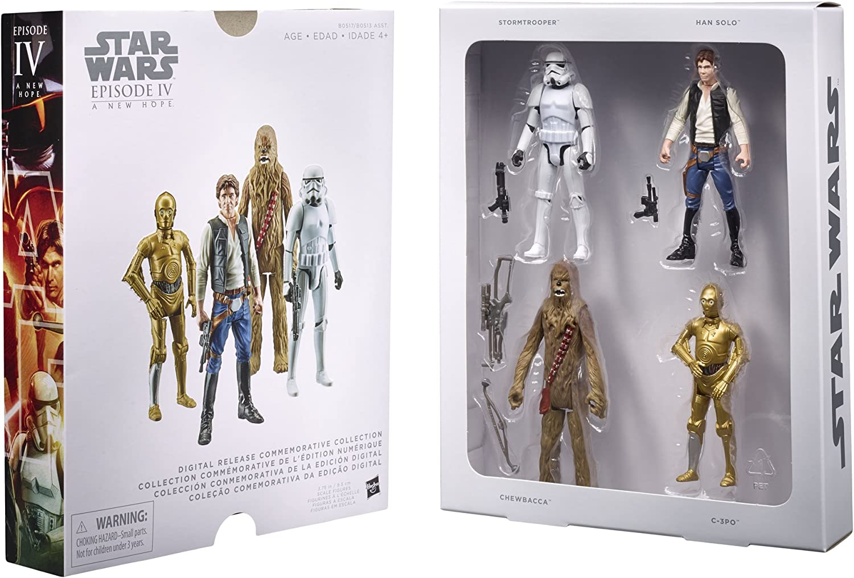 Star Wars Episode IV  ANH  Digital Release Commemorative Collector Set mit 4 Figuren von Hasbro