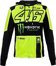 2018 VR46 Valentino Rossi #46 MotoGP Mens Full Zip Hoody Hoodie Monster Energy