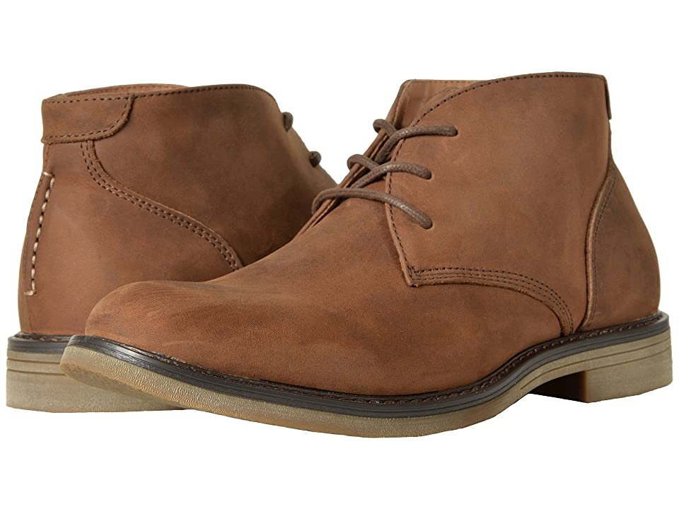 Nunn Bush Lancaster Plain Toe Chukka Boot (Brown Leather) Men