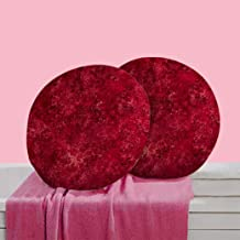 RADANYA Abstract Digitally Printed Round Cushion Cover Pillow Case Home Décor Set of 2,16 Inches,Red