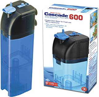 Penn Plax Cascade 600 Submersible Aquarium Filter Cleans Up to 50 Gallon Fish Tank with..