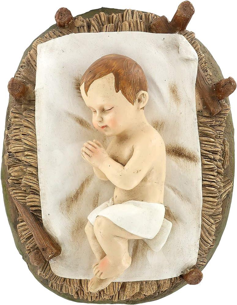 Ferrari & arrighetti statue presepe: gesù bambino nella culla linea martino landi 50 cm 2450NAGB
