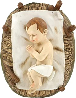 Ferrari & Arrighetti Statue presepe: Gesù Bambino nella Culla Linea Martino Landi per presepio da cm 50