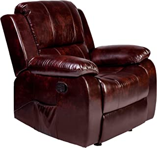 RelaxZen Clarkson Massage Recliner, Brown