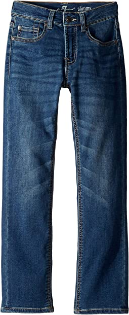 Luxe Sport Slimmy Foolproof Stretch Denim Jeans in Flash (Big Kids)