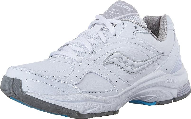 Saucony Wohommes ProGrid Integrity ST2 Walking chaussures,blanc argent,9.5 D US