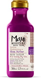 Maui Moisture Shea Butter Body Lotion 13 Ounce Moisturizing Body Lotion Formulated for Dry Skin Combination Skin, with Alo...