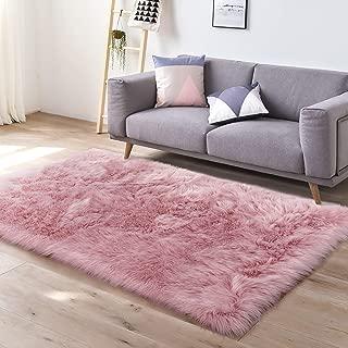 cream fluffy rug