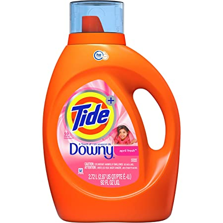 Tide with Downy Liquid Laundry Detergent Soap, High Efficiency (HE), April Fresh Scent, 59 Loads (92 Fl Oz)