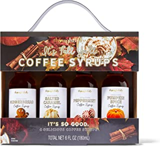 Modern Gourmet Foods, Fall Themed Coffee Syrups, Flavours Include Gingerbread, Salted Caramel, Peppermint and Pumpkin Spic...