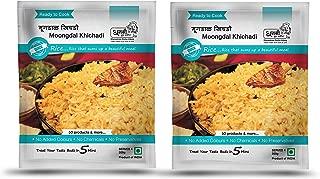 Dhanashree Gruha Udyog (Mumbai) Ready to Cook Moong Dal Khichadi, Instant Khichadi Mix, Indian Food (Pack of 2) - 200 grams each
