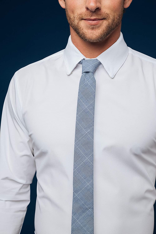 Mizzen + Main Leeward Formal Mens Slim Fit Button Down Stretch Dress Shirt