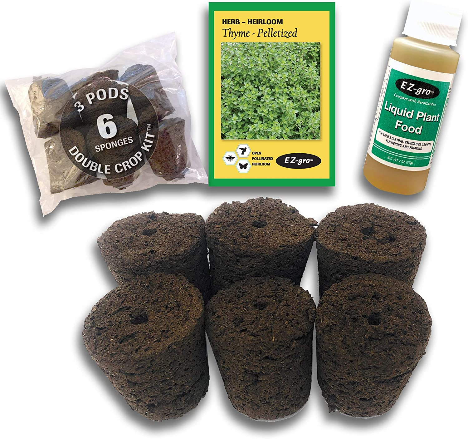 Hydrohort Thyme Seed Pod Kit is Manufacturer direct delivery Grow and S with Compatible Popularity Click