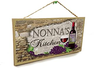 Blackwater Trading Nonna's Kitchen Italian Vintage Style Wine Sign Plaque 5
