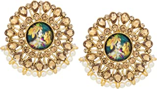 e4f2ec124 The Luxor Traditonal Gold Plated Stud Temple Jewellery Earring for Women  and Girls -ER-