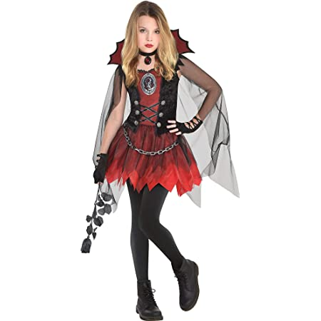amscan Girls Dark Vampire Costume- Small (4-6)- 3 pcs, Multicolor