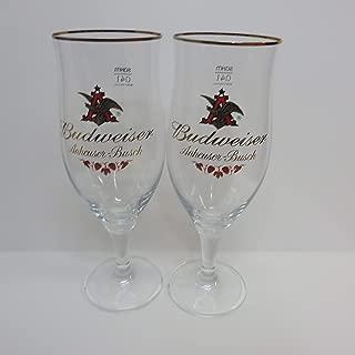 Budweiser Anheuser Busch 0,4l Stemmed Glass Set