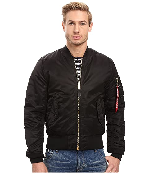 Alpha Industries MA-1 Slim Fit Flight Jacket at Zappos.com da24afc81fe