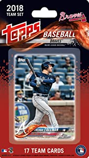 Atlanta Braves 2018 Topps MLB Baseball Factory Sealed Special Edition 17 Card Team Set with a Rookie Card of Ozzie Albies plus Dansby Swanson and Freddie Freeman and Others