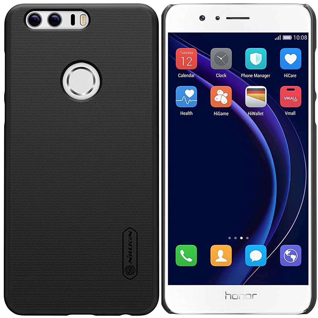 Huawei Honor 8 Case, Nillkin Ultra Slim Thin Anti Slipping Hard PC Cover Case, [Frosted] Durable Anti Fingerprints Back Case for Huawei Honor 8 (with Clear Screen Protector)