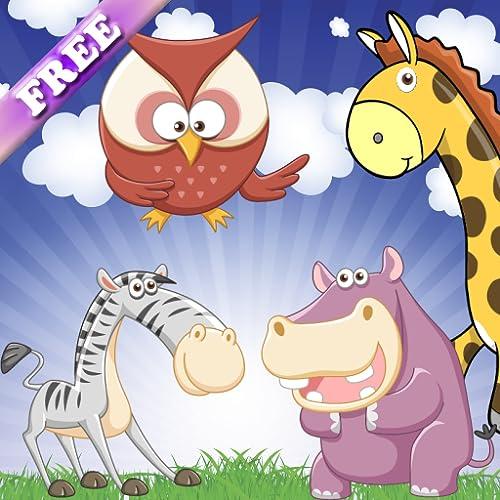 Gedächtnisspiele im Zoo für Kleinkinder und Kinder: Entdecken Sie die Tiere und ihre Geräusche! KOSTENLOSE