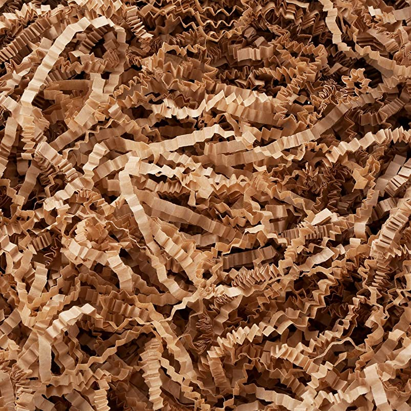 Tatuo Crinkle Paper Filler Shredded Paper Dry Straw Strands Shreds for Easter Basket Filling Gift Wrapping DIY Supplies (Light Coffee) ccauidxn973574