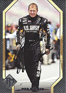 AUTOGRAPHED Ryan Newman 2012 Press Pass Racing Total Memorabilia (#39 ARMY Team) Stewart-Haas Signed Collectible NASCAR Trading Card with COA