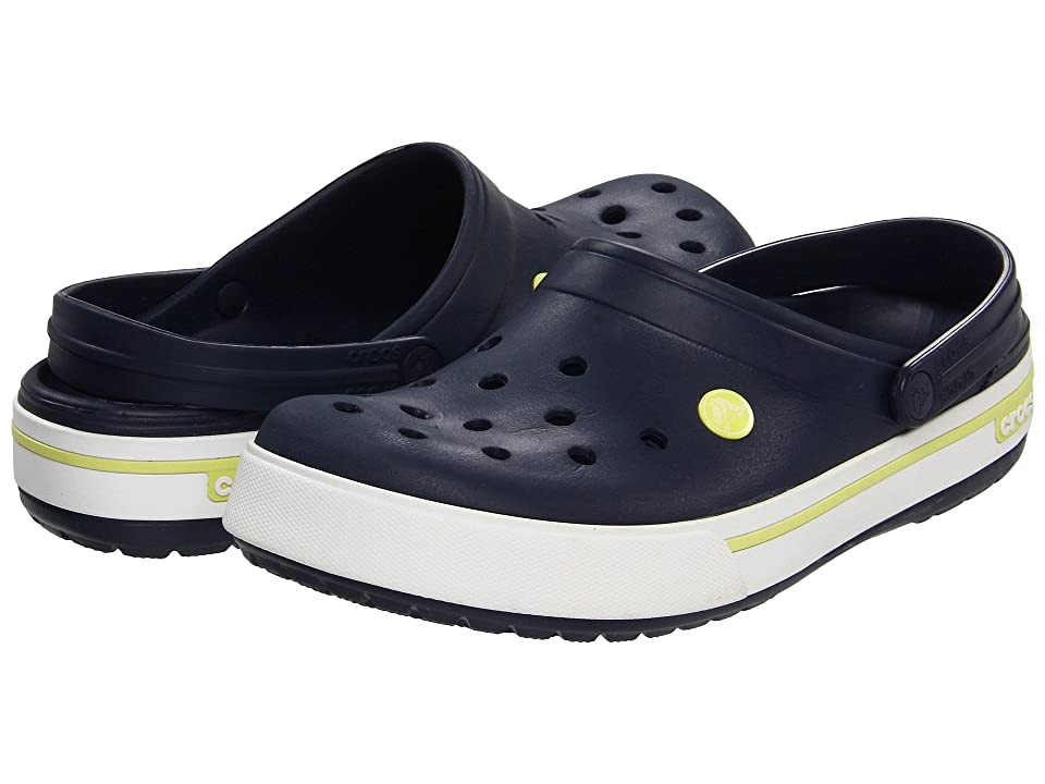 Crocs Crocband II.5 Clog (Navy/Citrus) Clog Shoes