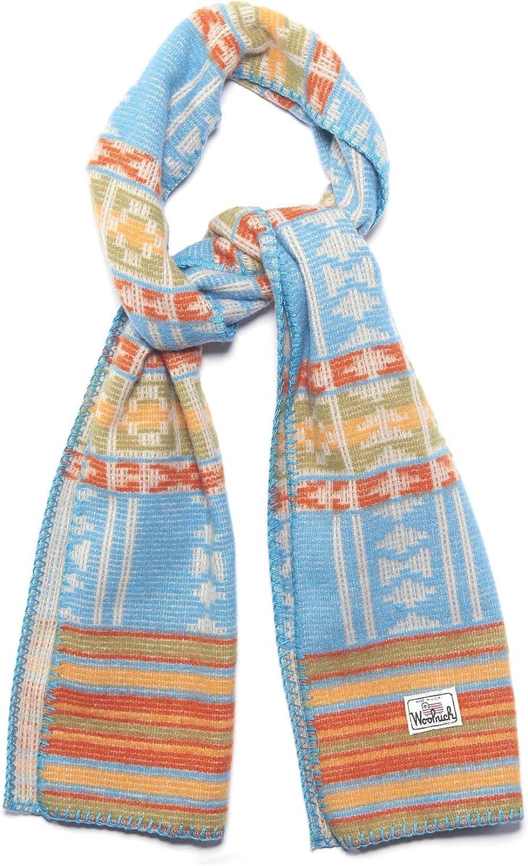 Woolrich Woolrich Soft Wool Jacquard Scarf, LAGOON MULTI (Blue)