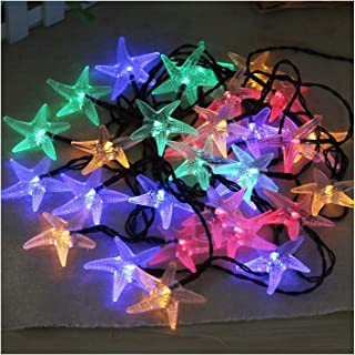WKK-PB LED Solar Starfish String Light Seaside Decorative Lights Outdoor Garden Lights IP54 Waterproof Rating 8 Modes Low-...