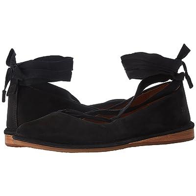 Frye Helena Ankle Tie (Black Oiled Nubuck) Women