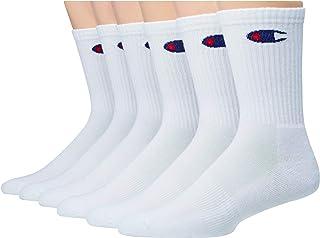 Men's 6-Pack Double Dry Moisture Wicking Logo Crew Socks