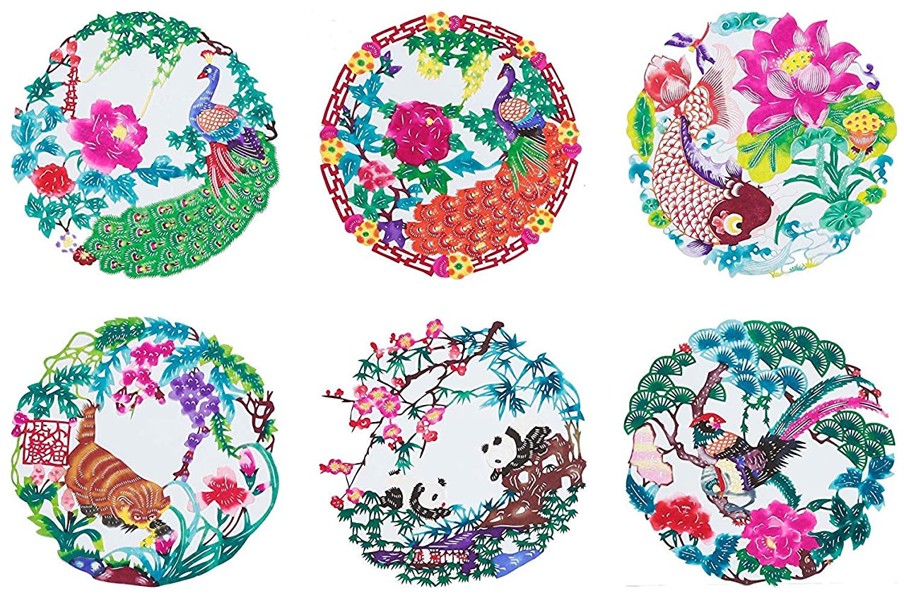 Shayier China Intangible Cultural Heritage - Chinese Color Handmade Paper-cut (Flower & Bird)