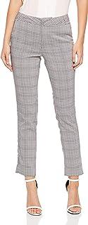 Oxford Women's Emma Crop Check Pants, Black Check