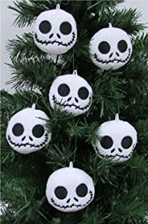 Nightmare Before Christmas Plush Ornament Set Featuring 6 Jack Skellington Christmas Tree Plush Ornaments - Average 2.5