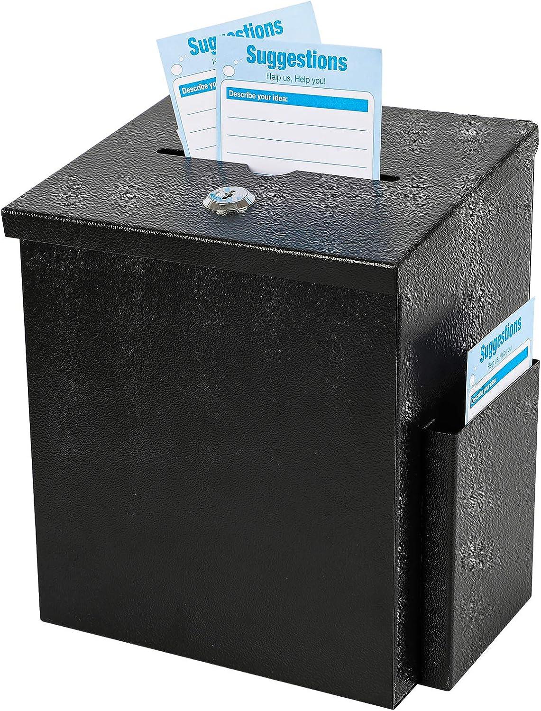 xydled New popularity Wall Mounted Suggestion Purchase BallotDonation Lock with Box