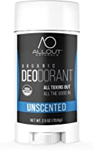 All Out Naturals Organic Deodorant, Best Natural Deodorant for Women and Men, For Sensitive Skin, Aluminum Free, Vegan, Non Toxic, 2.5 oz Stick (Unscented)