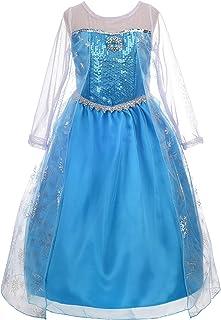 Dressy Daisy Girls' Princess Elsa Costumes Snow Queen Fancy Party Birthday Dress