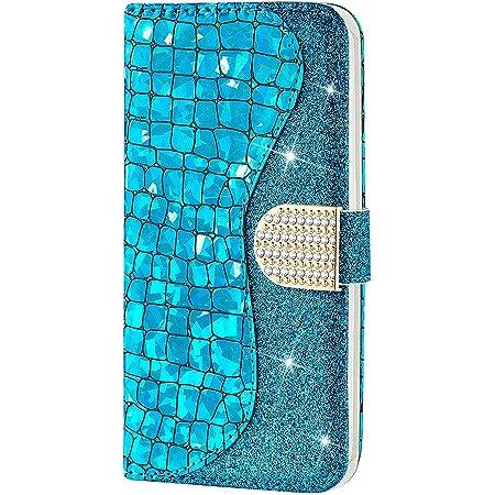 Ctiuya Schutzhülle Für Samsung Galaxy A20e Hülle Glitzer Handyhülle Pu Leder Bling Handytasche Klapphülle Case Glänzend Diamant Magnet Flip Cover Ledertasche Für Samsung Galaxy A20e Blau Musikinstrumente