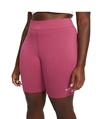 Nike NSW Essential Bike Shorts LBR Mid-Rise (Sweet Beet/White) Women