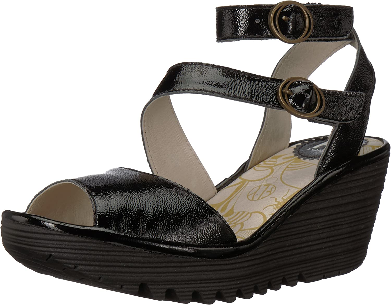 Fly London Womens Yisk837fly Wedge Sandal