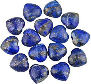 rockcloud Healing Crystal 0.5 inch Lapis Lazuli Carved Worry Stone Chakra Reiki Balancing(Pack of 10)