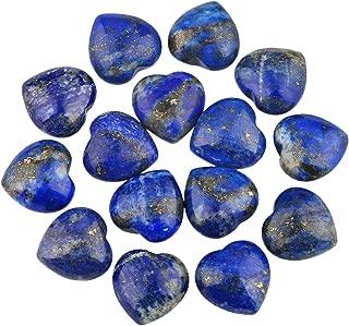 rockcloud Healing Crystal 0.5 inch Lapis Lazuli Carved Worry Stone Chakra Reiki Balancing(Pack of 10)