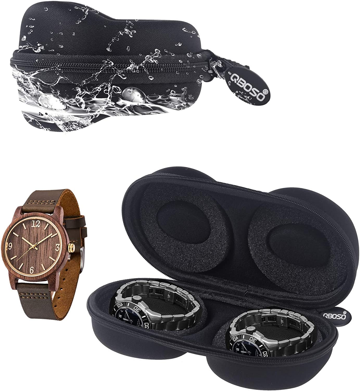 Double Max 69% OFF Watch Travel Case QBOSO Portable Storage Wa Sale SALE% OFF Organizer for