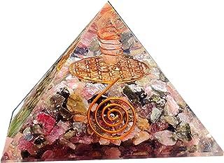 Orgone Energy Pyramid for EMF Protection Multi Tourmaline Orgonite Pyramid Fiore della vita Simbolo Om Protezione psichica