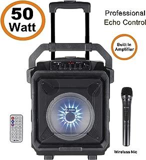 Zoook Rocker Thunder XL 50 watts Trolley Karaoke Bluetooth Speaker with Remote, Built-in Amplifier & Wireless Mic - Black