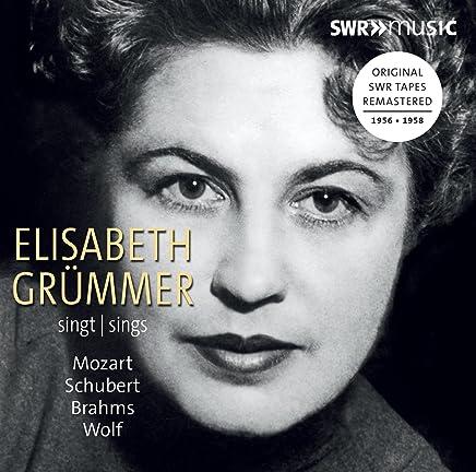 エリーザベト・グリュンマー(S) モーツァルト、シューベルト、ブラームス、ヴォルフを歌う 1956-1958年録音集