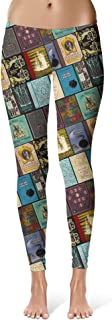 Rainbow Rules Wizarding Books Harry Potter Inspired Sport Leggings - Full Length, Mid/High Waist